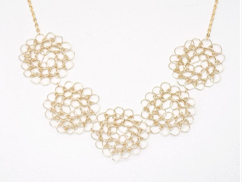 【受注販売】Kumo Necklace - Crochet with Wire-
