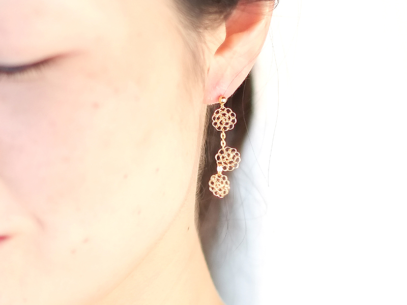 【受注販売】Karen Earring - Crochet with Wire-