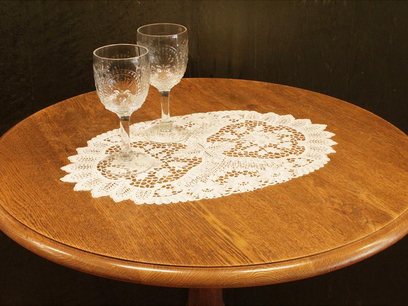 【Wポイント】ヨーロピアンレース テーブルマット30×45cm