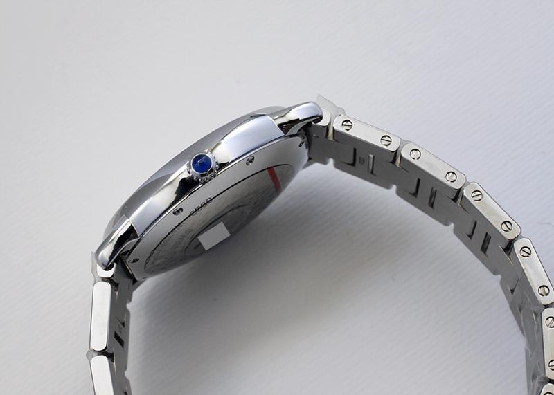 カルティエ WSRN0012 ロンド ソロ ドゥ カルティエ SS シルバー文字盤 自動巻き ブレスレット