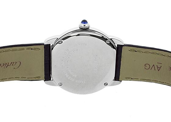 カルティエ WSRN0019 レディース ロンドソロ SM SS シルバー文字盤 クォーツ レザー