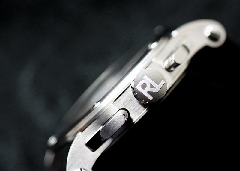 【未使用品】ラルフローレン RLR0230713 オートモーティブ クロノグラフ SS 黒/ウッド文字盤 自動巻き レザー