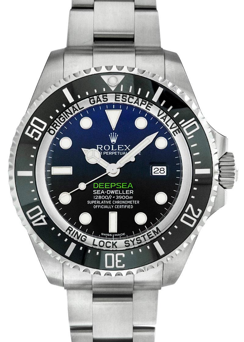 ロレックス 116660 シードゥェラー ディプシー D-BLUEダイアル SS ブルー/黒文字盤 自動巻き ブレスレット