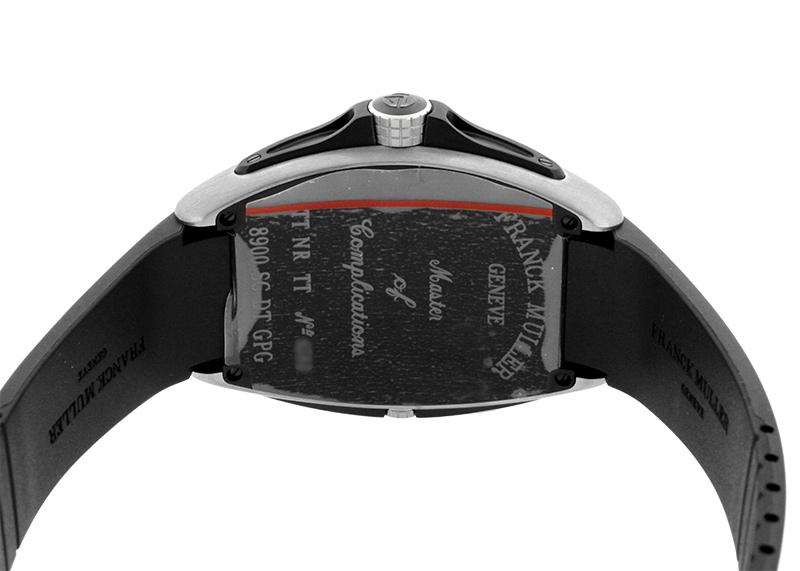 フランクミュラー 8900 SC DT GPG TT NR TT コンキスタドールグランプリ TI 黒文字盤 自動巻き ラバー