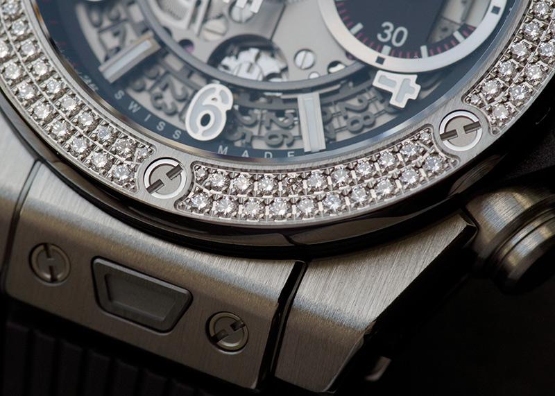 ウブロ 441.NX.1170.RX.1104 ウニコ チタニウム ダイヤモンド 42mm TI スケルトン文字盤 自動巻き ラバー
