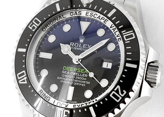 【中古】ロレックス 116660 シードゥエラー ディープシー D-BLUEダイヤル SS 青/黒文字盤 自動巻き ブレスレット