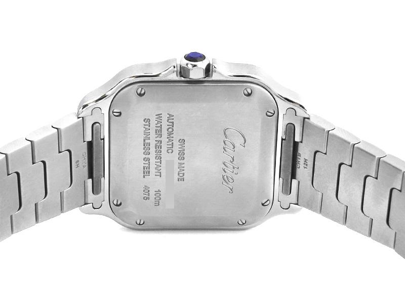 【中古】カルティエ WSSA0029 サントス ドゥ カルティエ MM SS シルバー文字盤 自動巻き ブレスレット