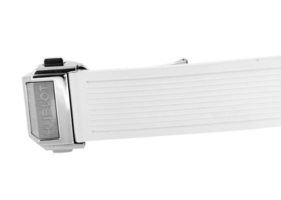 ウブロ 465.SE.2010.RW.1204 レディース ビッグバン ワンクリック スチールホワイト ダイヤモンド SS 白文字盤 自動巻き ラバー