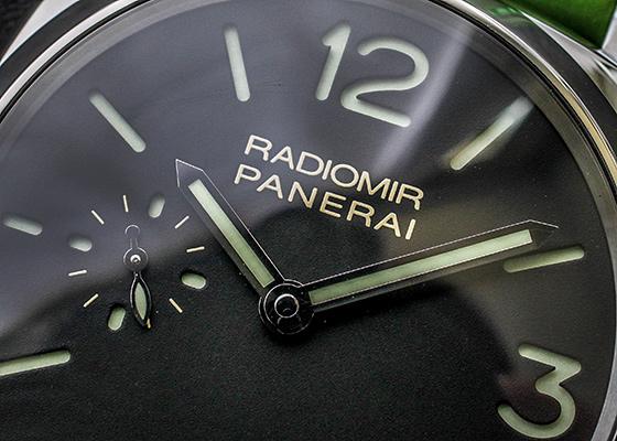 【未使用品】オフィチーネ パネライ PAM00574 ラジオミール 1940 3デイズ アッチャイオ SS 黒文字盤 手巻き レザー