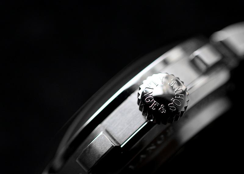 【中古】ランゲ&ゾーネ 405.035(LS4052AD) ダトグラフ アップ/ダウン PT 黒文字盤 手巻き レザー