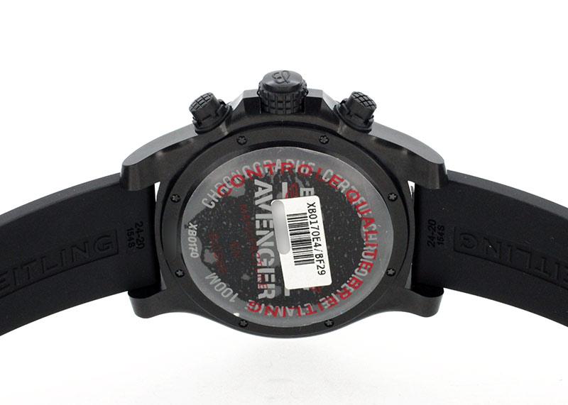 ブライトリング XB0170 アベンジャー ハリケーン クロノグラフ ブライトライト 黒文字盤 自動巻き ラバー