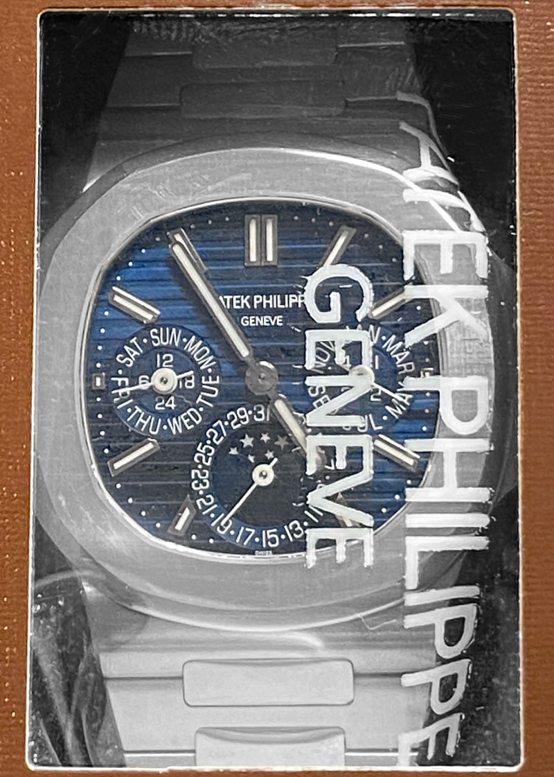 【レストア】パテックフィリップ 5740/1G-001 ノーチラス パーペチュアルカレンダー WG ブルー文字盤 自動巻き ブレスレット
