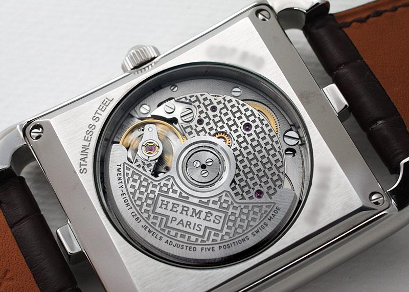 【未使用品】エルメス CD7.810 ケープコッド SS シルバー文字盤 自動巻き レザー