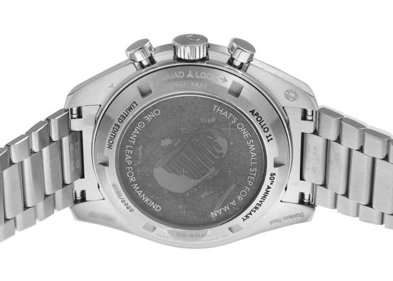 【未使用品】オメガ 310.20.42.50.01.001 スピードマスター アポロ11号 50周年記念モデル 6,969本限定 SS グレー/黒文字盤 手巻き ブレスレット