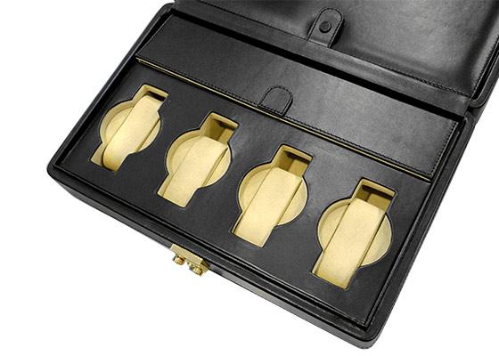 オービタ Verona 8 コレクションボックス 8本収納 ブラック レザー