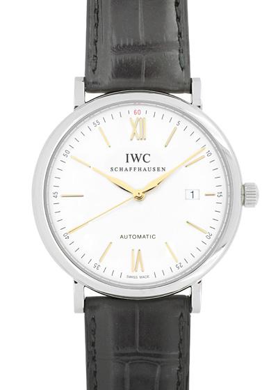 IWC IW356517 ポートフィノオートマティック SS 白文字盤 自動巻き レザー