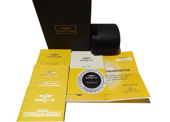 【中古】ブライトリング A022B02NP(AB0120)  ナビタイマー01  SS 黒&シルバー文字盤 自動巻き ブレスレット
