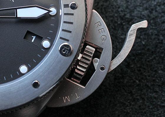 【正規品】【中古】パネライ PAM00614 ルミノール サブマーシブル 1950 3デイズ フライバック クロノグラフ TI 黒文字盤 自動巻き ラバー