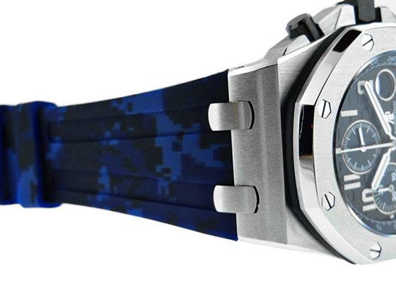 【中古】オーデマピゲ 26470ST.OO.A028CR.01 ロイヤルオーク オフショア クロノグラフ SS ブルー/ブラック文字盤 自動巻き レザー