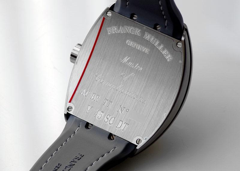 フランクミュラー V45SCDT TT BR NR ヴァンガード デイト TI グレー文字盤 自動巻き カーフ/ラバー