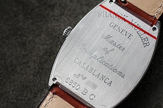 フランクミュラー 6850CASA カサブランカ SS 白文字盤 自動巻き レザー(茶)