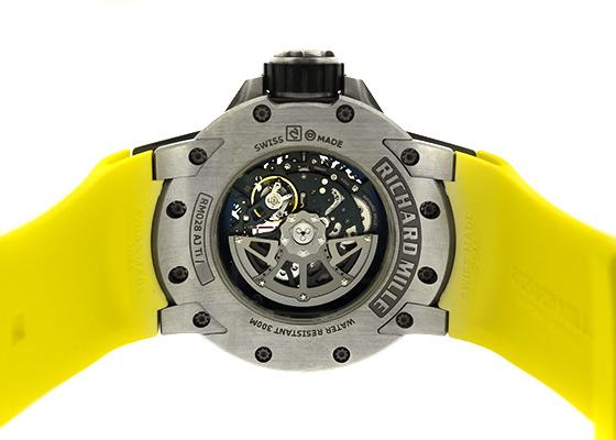 【中古】リシャールミル RM028 オートマティック ダイバーズ TI スケルトン文字盤 自動巻き ラバー