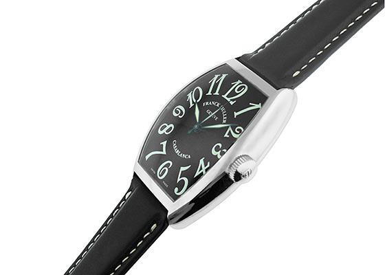 【中古】フランクミュラー 5850CASA カサブランカ SS 黒文字盤 自動巻き レザー