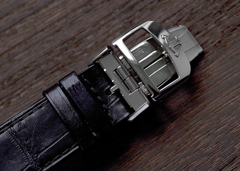 【中古】ジャガールクルト Q3828420(214.8.S5) レベルソ クラシック ラージ SS シルバー文字盤 自動巻き レザー