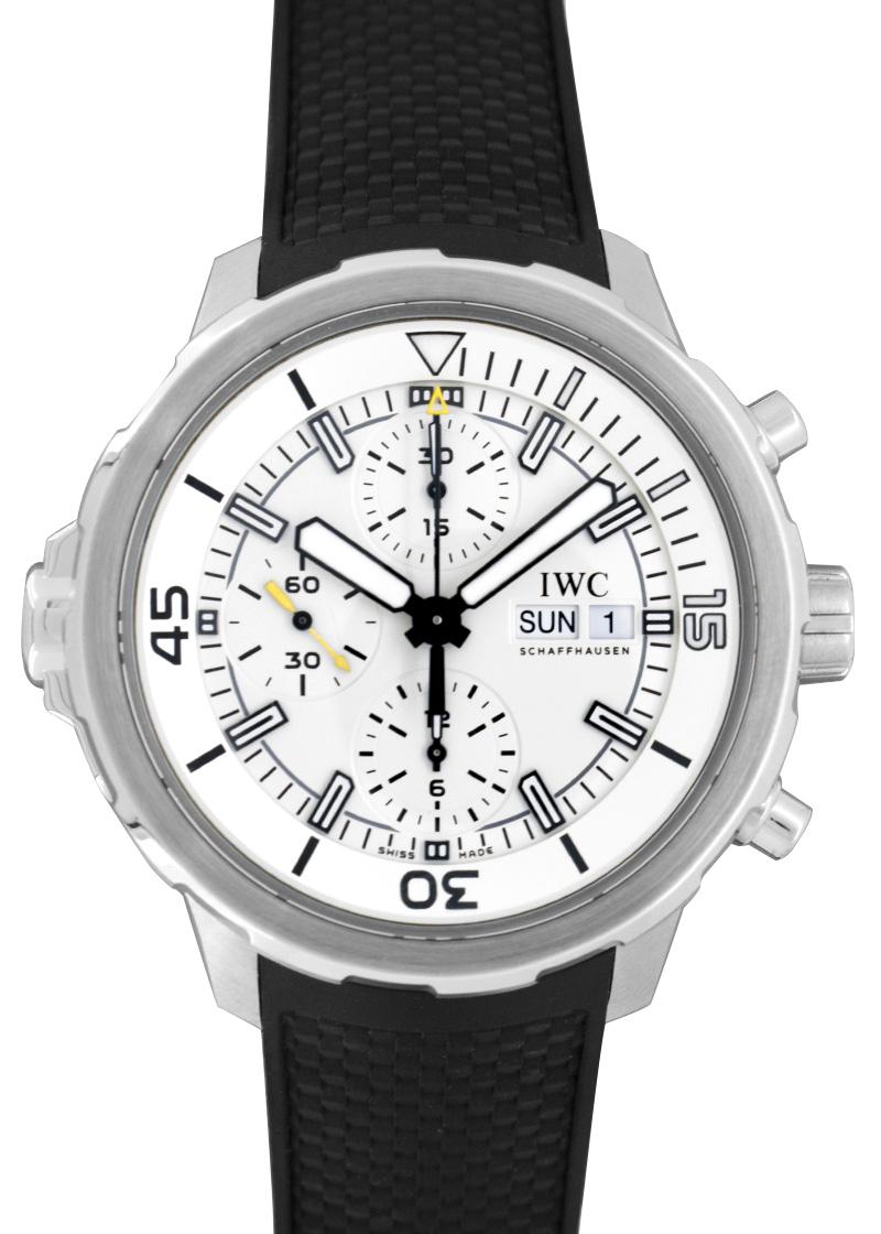 【中古】IWC IW376801 アクアタイマークロノグラフ SS シルバー文字盤 自動巻き ラバー