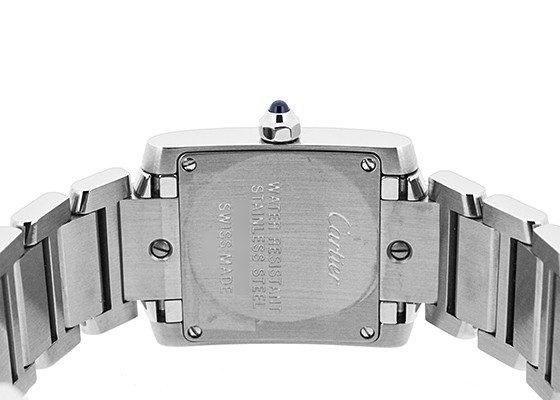 カルティエ W51008Q3 レディース タンクフランセーズ SM SS シルバー文字盤 クォーツ ブレスレット