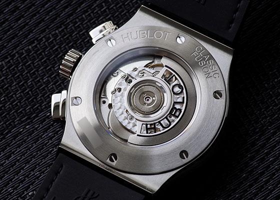 ウブロ 525.NX.0170.LR.1104 クラシックフュージョン アエロフュージョン チタニウム ダイヤモンド TI スケルトン文字盤 自動巻き ラバーアリゲーター