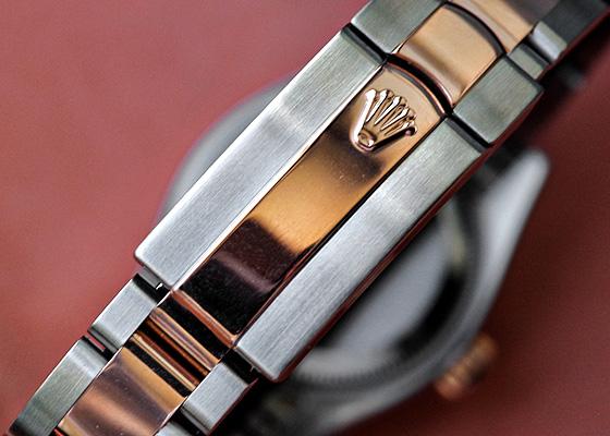 【人気】【上品 ダイヤ入り】ロレックス  レディース デイトジャスト チョコレートブラウン 179171 【中古】