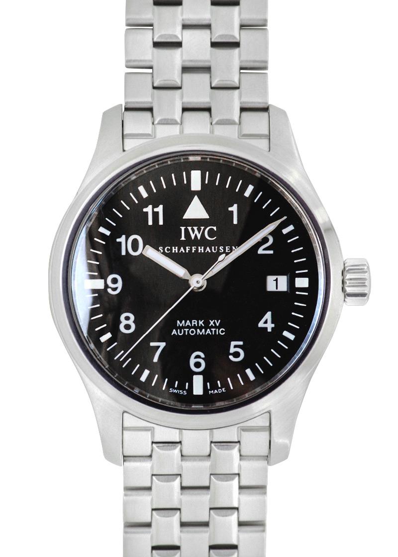【中古】IWC IW325307 パイロットウォッチ マーク15(mark XV) 魚リューズ SS 黒文字盤 自動巻き ブレスレット【希少モデル】