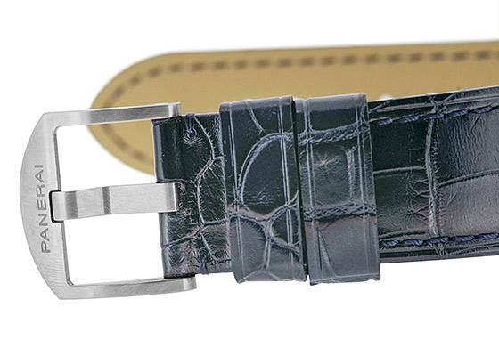 オフィチーネ パネライ PAM00729 ルミノール ドゥエ 3DAYS オートマティック チタニオ TI ブルー文字盤 自動巻き レザー