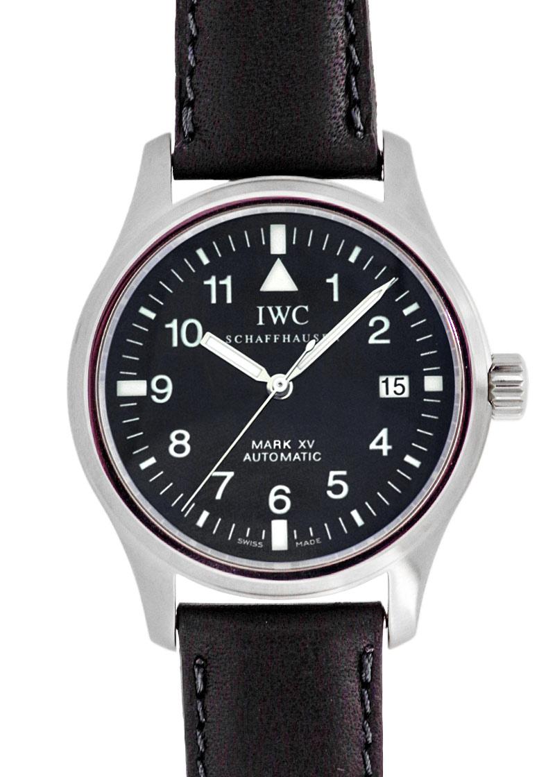 【希少モデル】【中古】IWC IW325301 マークXV SS 黒文字盤 自動巻き レザー
