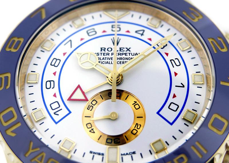 【中古】ロレックス 116688 オイスターパーペチュアル ヨットマスター� YG 白文字盤 自動巻き ブレスレット
