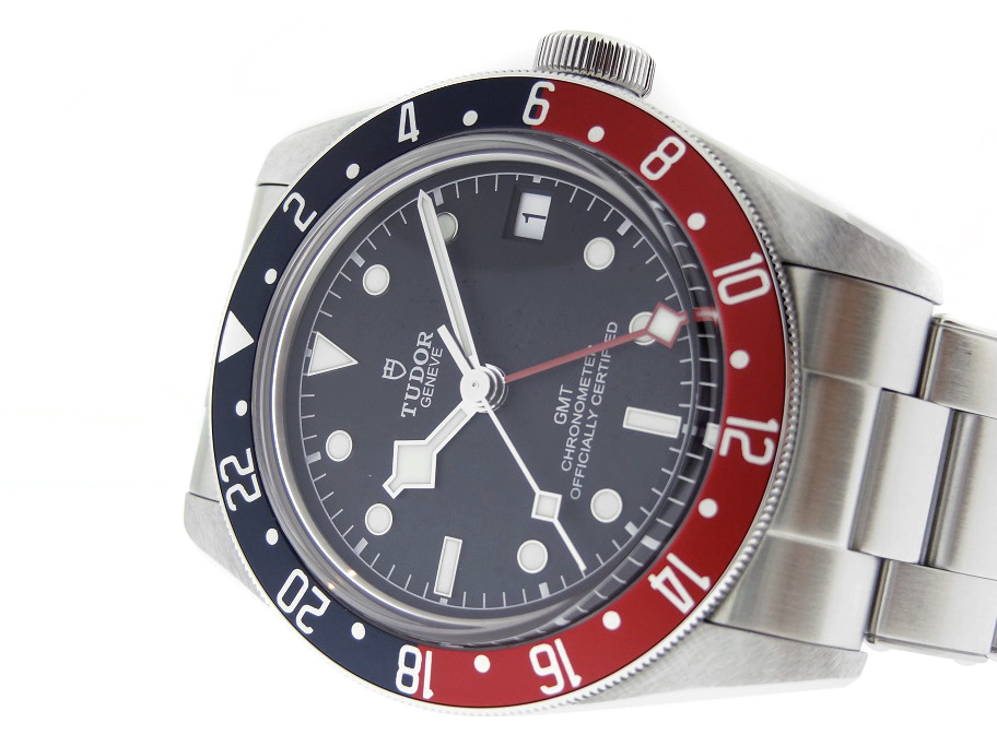 【中古】チューダー 79830RB ブラックベイ GMT 赤青 SS 黒文字盤 自動巻き ブレスレット