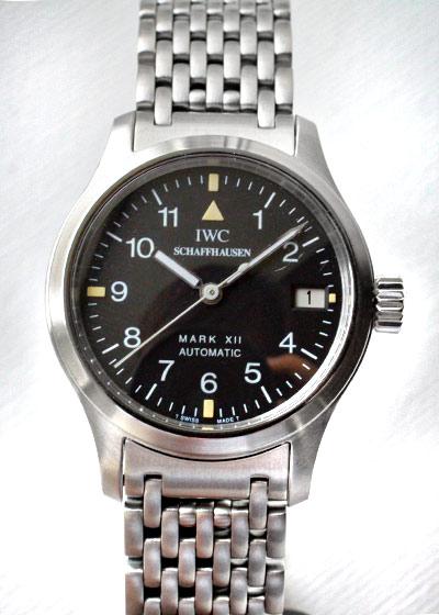 【中古】IWC IW4421 レディース パイロットウォッチ マークXII  SS 黒文字盤 自動巻き ブレスレット【希少】