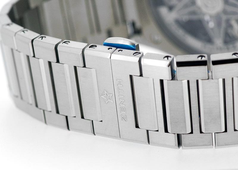 ゼニス 95.9000.9004/78.M9000 デファイ エルプリメロ 21 TI スケルトン文字盤 自動巻き ブレスレット