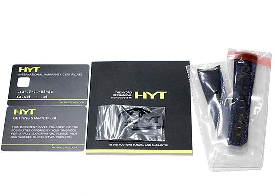 【世界50本限定】HYT 148-TT-11-BF-RW H1 アイスバーグ TI スケルトン文字盤 手巻き ラバー