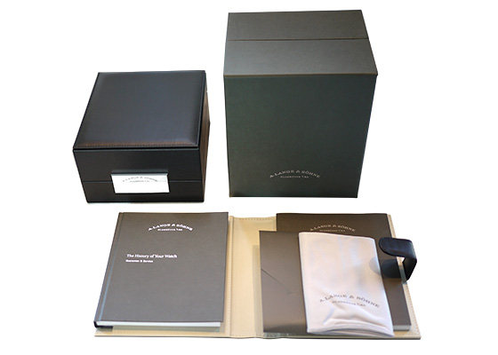 【中古】A.ランゲ&ゾーネ 101.032F ランゲ1 18KPG シルバー文字盤 手巻き レザー
