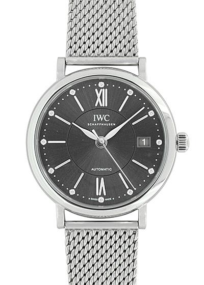 【未使用品】IWC IW458110 ポートフィノ ミッドサイズ オートマティック SS グレー文字盤 自動巻き ブレスレット