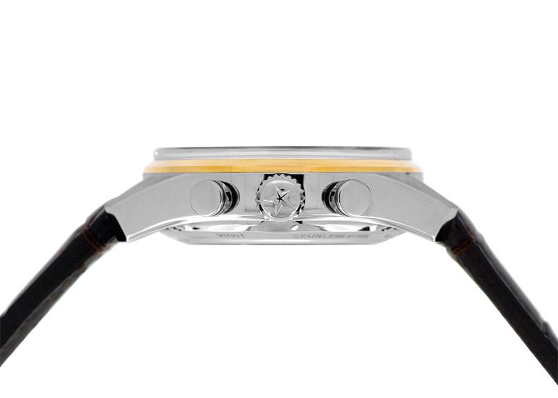 【未使用品】ゼニス 51.2151.400/78.C810 クロノマスター エルプリメロ フルオープン SS/RG スケルトン文字盤 自動巻き レザー