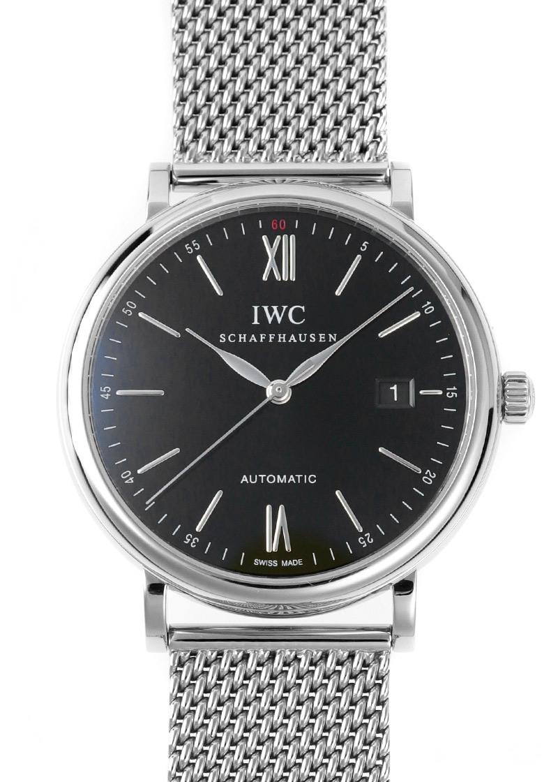 【中古】IWC IW356502 ポートフィノ SS 黒文字盤 自動巻き ブレスレット
