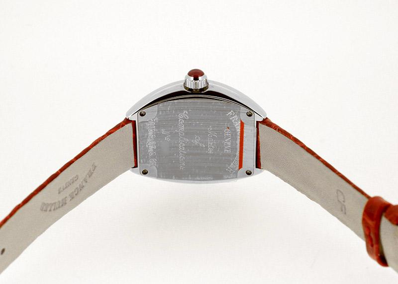 フランクミュラー 5002SQZ C6H レディース ハートトゥハート SS シルバー文字盤 クォーツ レザー【委託品】
