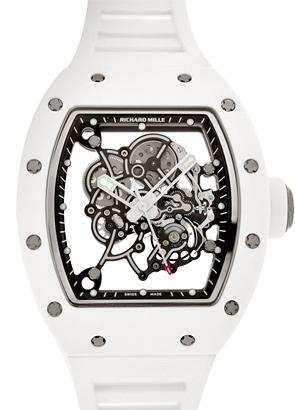 リシャール ミル RM055 バッバ・ワトソン ATZベゼル TI(ラバー) スケルトン文字盤 手巻き ラバー