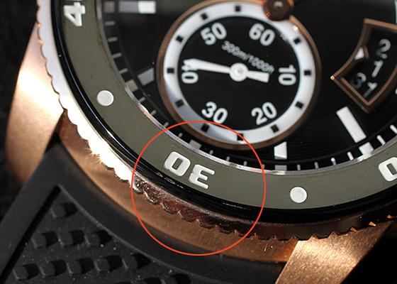 【中古】カルティエ W7100052 カリブルドゥカルティエ ダイバー PG 黒文字盤 自動巻き ラバー