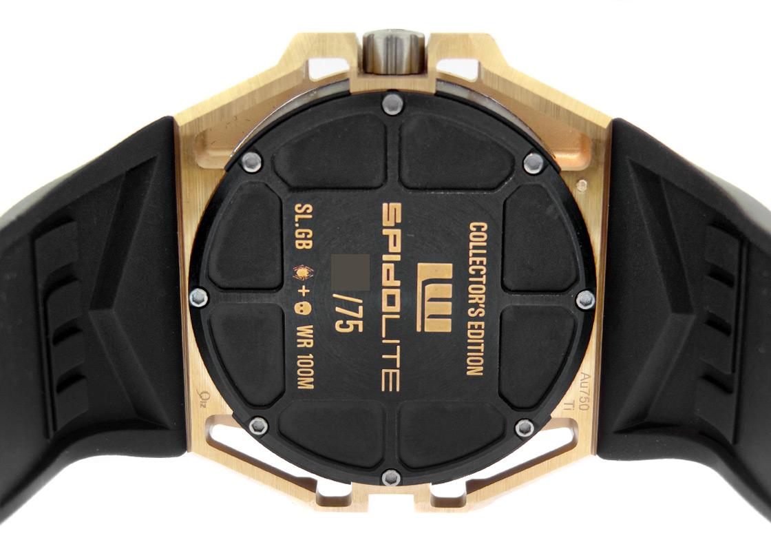 【中古】リンデ・ヴェルデリン SLTGC.2スパイドライトゴールド 75本限定 RG スケルトン文字盤 自動巻き ラバー【委託品】
