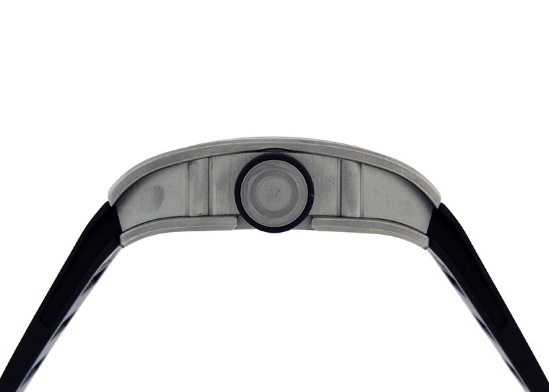 【中古】リシャールミル RM010 オートマティック TI スケルトン文字盤 自動巻き ラバー【委託品】