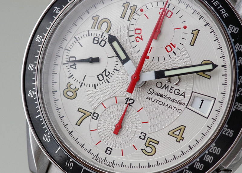 【中古】オメガ 3513.33 スピードマスター デイト マーク40 SS 白文字盤 自動巻き ブレスレット